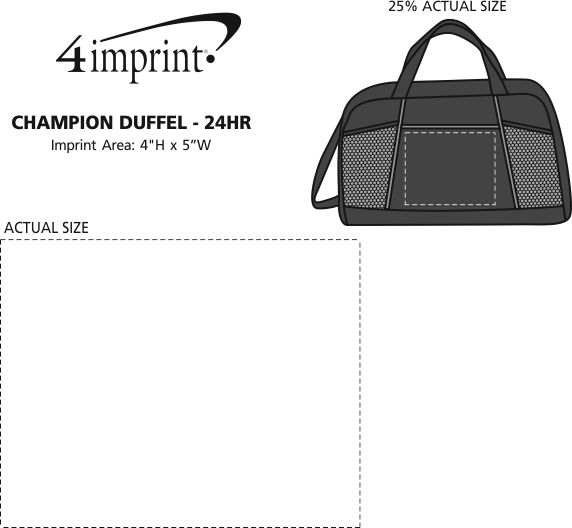 Imprint Area of Championship Duffel - 24 hr