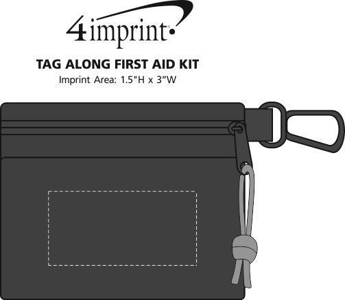 Imprint Area of Tag Along First Aid Kit