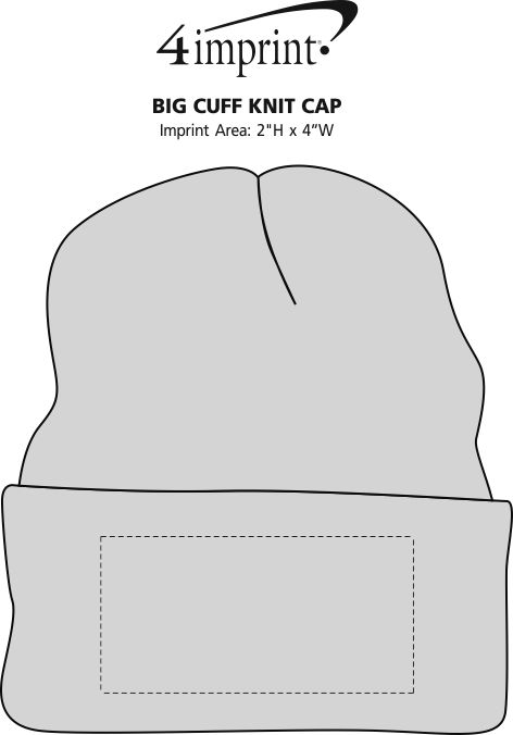 Imprint Area of Big Cuff Knit Cap