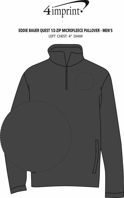 Imprint Area of Eddie Bauer Quest 1/2-Zip Microfleece Pullover - Men's