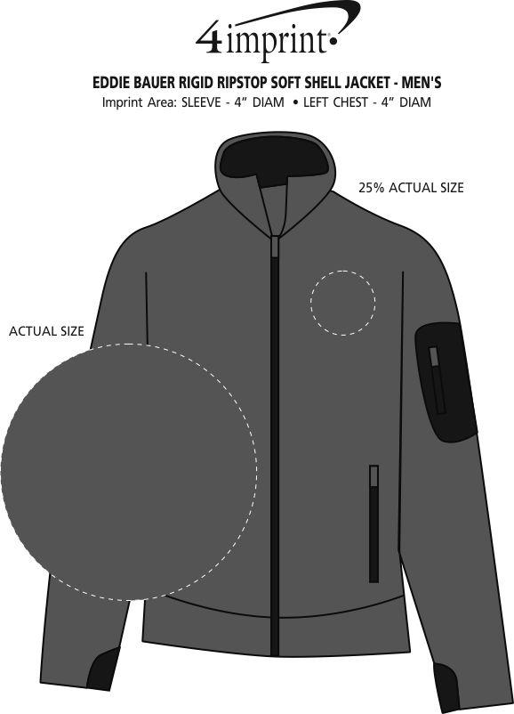Imprint Area of Eddie Bauer Rigid Ripstop Soft Shell Jacket - Men's
