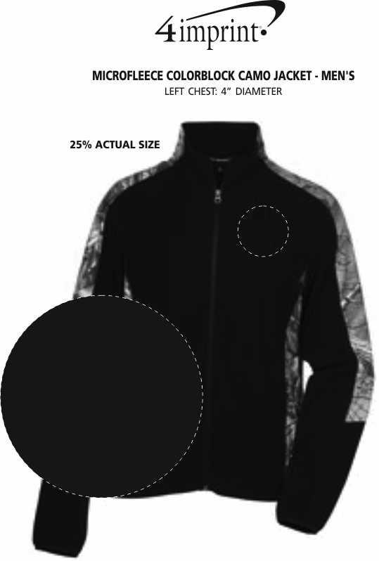 Imprint Area of Microfleece Colorblock Camo Jacket - Men's