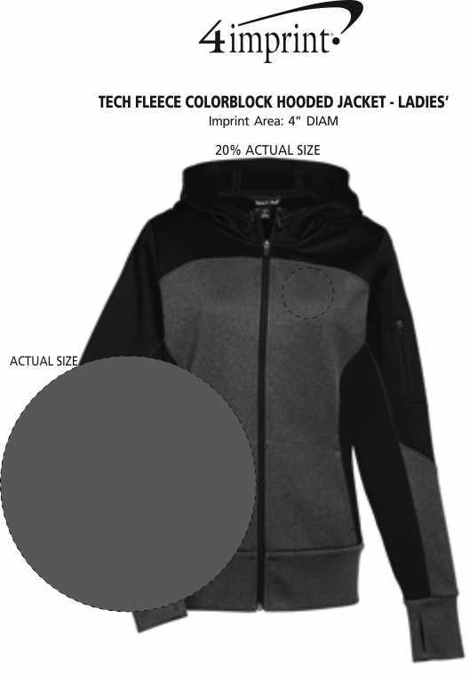 Imprint Area of Tech Fleece Colorblock Hooded Jacket - Ladies'