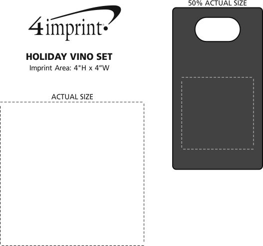 Imprint Area of Holiday Vino Set