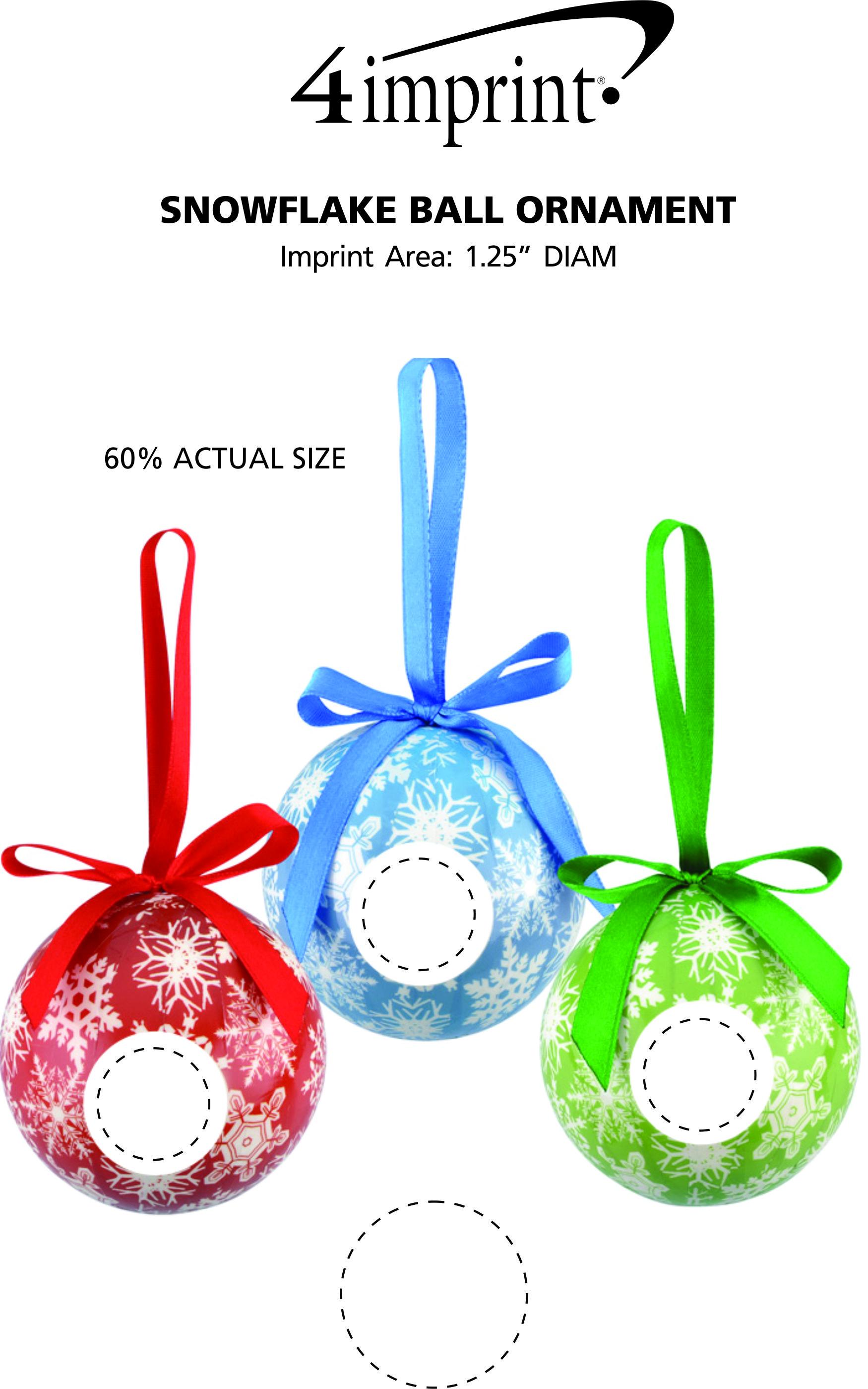 Imprint Area of Snowflake Ball Ornament