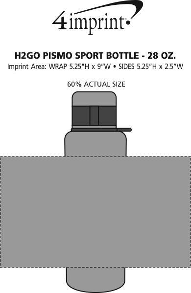 Imprint Area of h2go Pismo Sport Bottle - 28 oz.