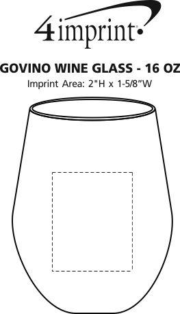 Imprint Area of govino® Shatterproof Wine Glass - 16 oz.