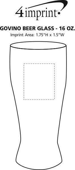 Imprint Area of govino® Shatterproof Beer Glass - 16 oz.