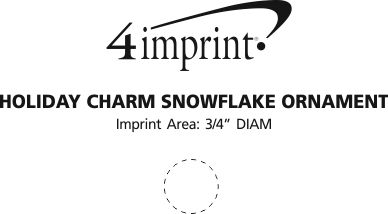 Imprint Area of Holiday Charm Snowflake Ornament
