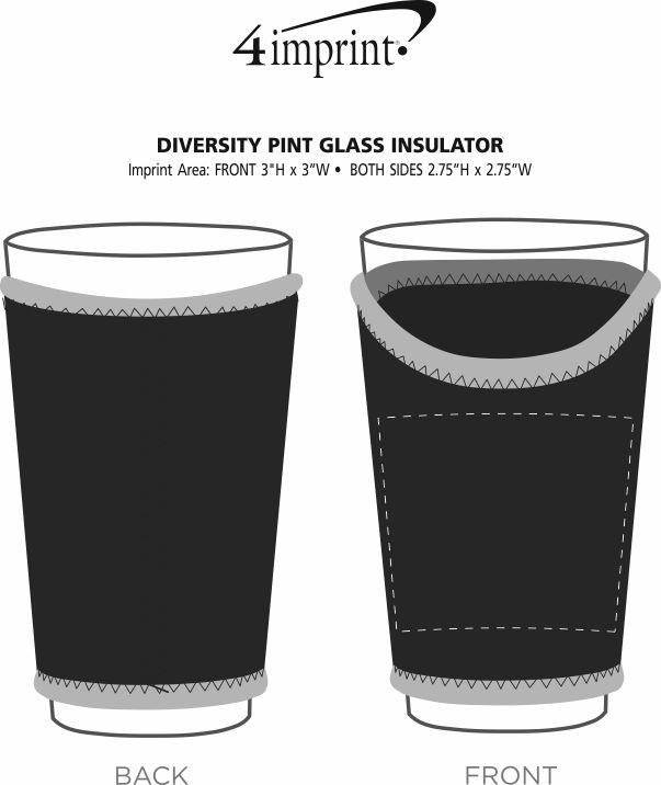 Imprint Area of Diversity Pint Glass Insulator