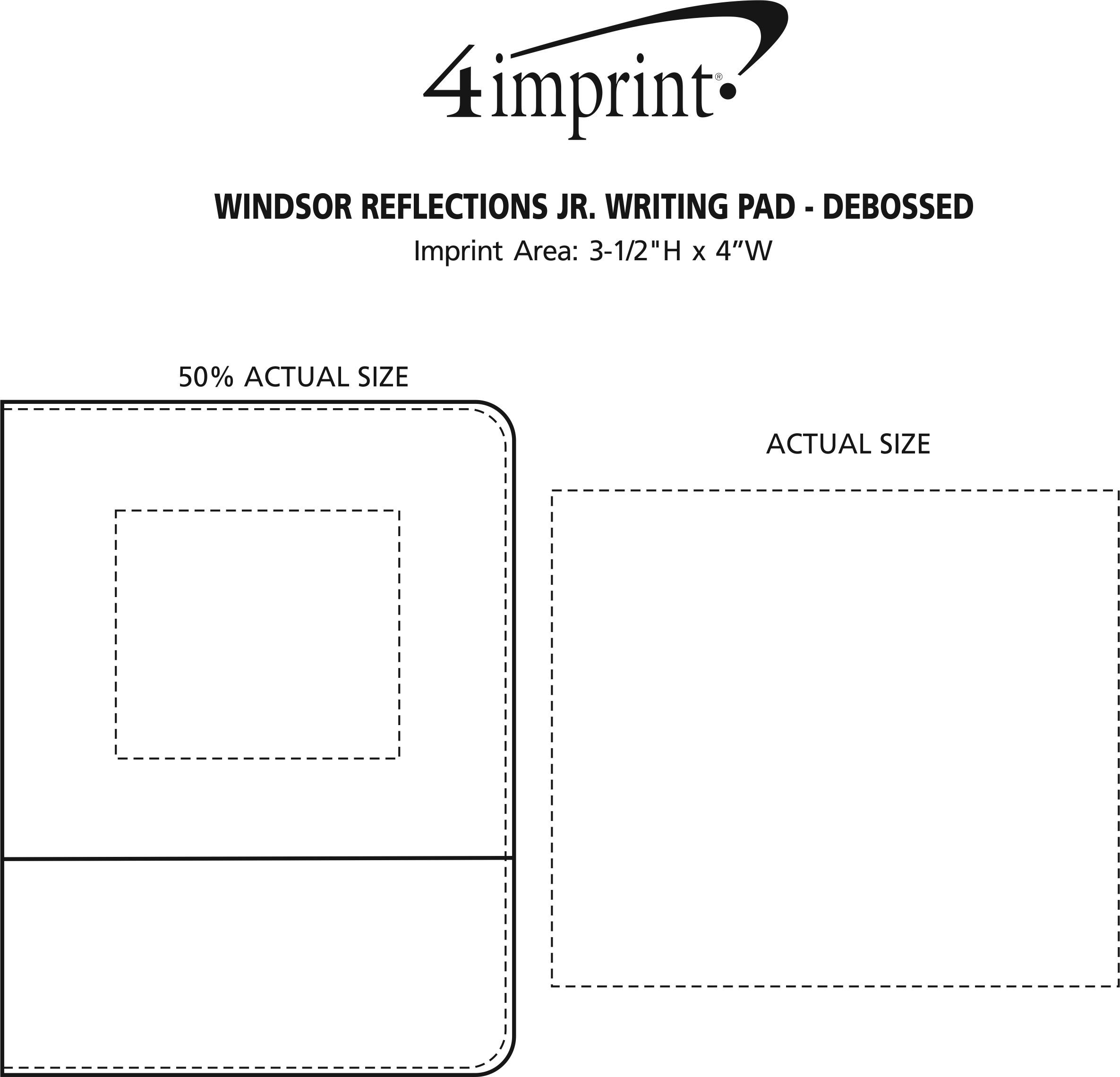 Imprint Area of Windsor Reflections Jr. Writing Pad - Debossed