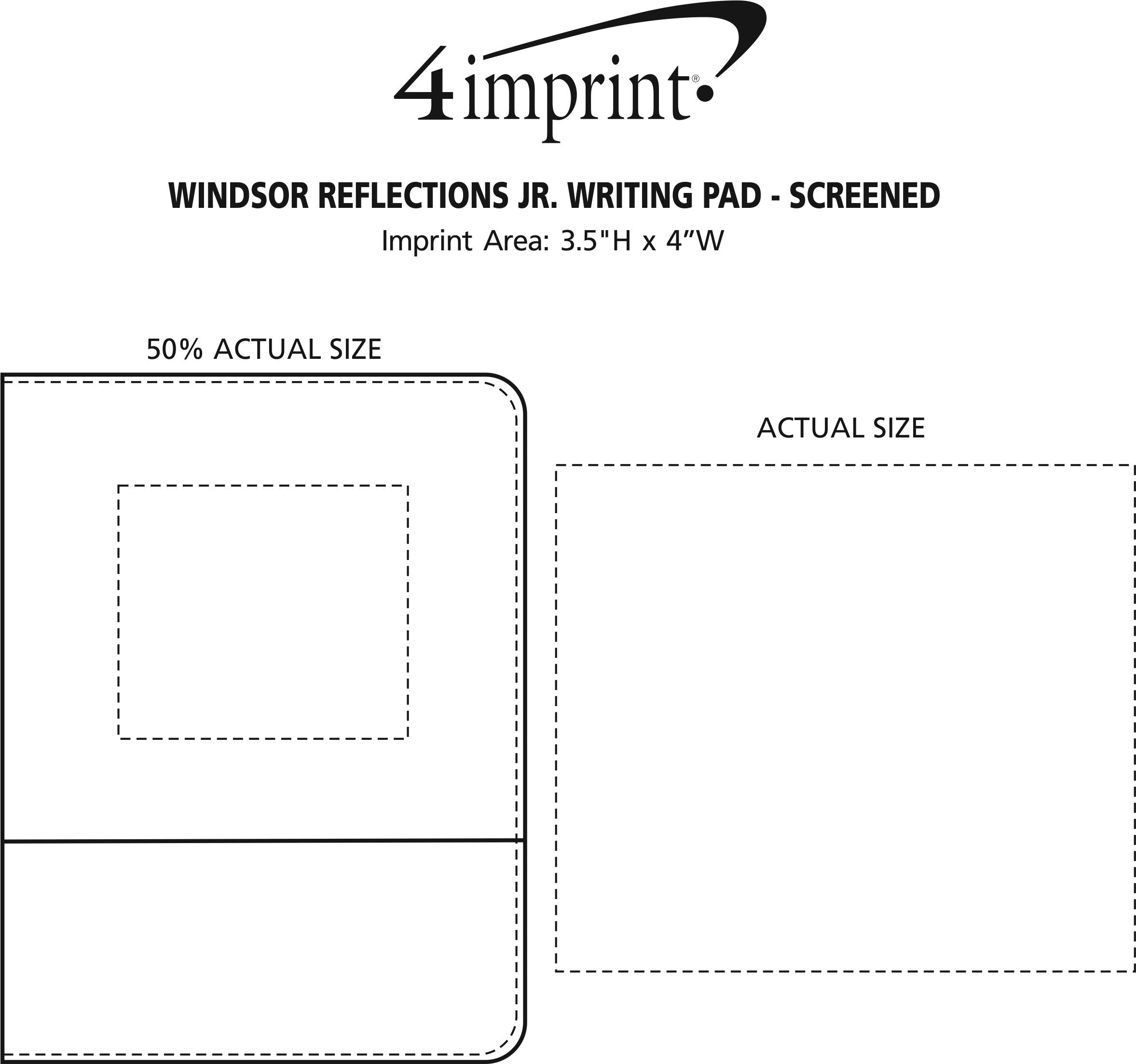 Imprint Area of Windsor Reflections Jr. Writing Pad