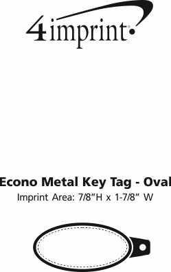 Imprint Area of Camden Metal Keychain - Oval