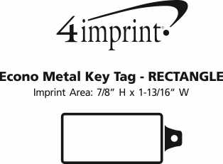 Imprint Area of Camden Metal Keychain - Rectangle