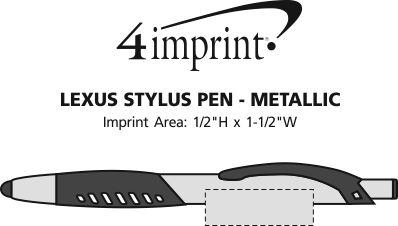 Imprint Area of Lexus Stylus Pen - Metallic