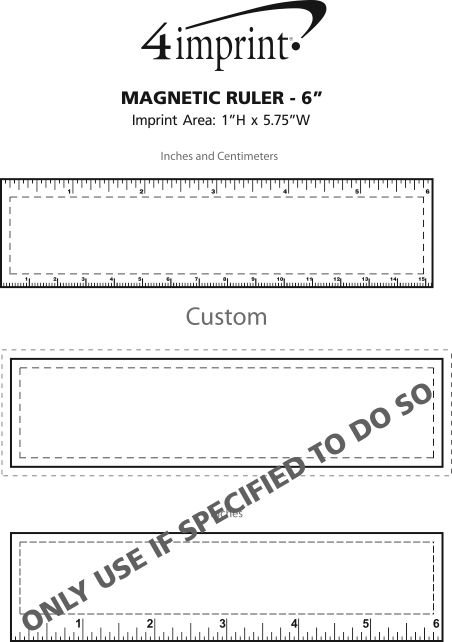 """Imprint Area of Magnetic Ruler - 6"""""""