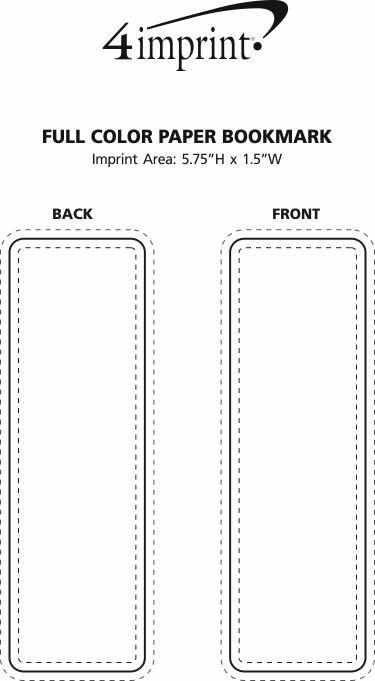 Imprint Area of Full Color Paper Bookmark
