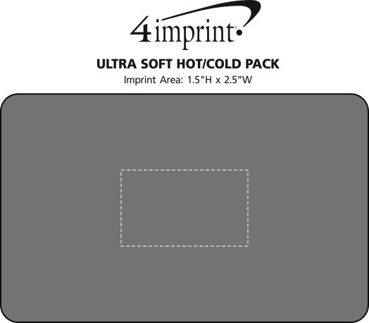 Imprint Area of Ultra Soft Hot/Cold Pack