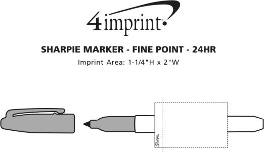 Imprint Area of Sharpie Marker - Fine Point - 24 hr