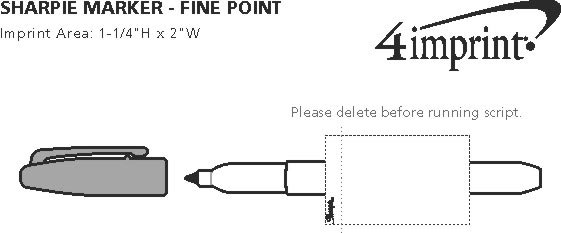Imprint Area of Sharpie Marker - Fine Point