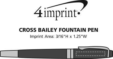 Imprint Area of Cross Bailey Twist Metal Pen