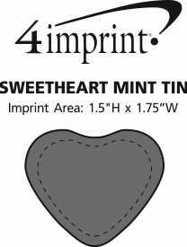 Imprint Area of Sweetheart Mint Tin