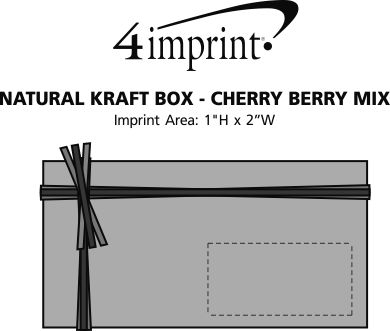 Imprint Area of Natural Kraft Box - Cherry Berry Mix