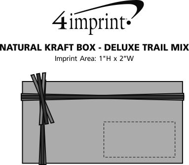 Imprint Area of Natural Kraft Box - Deluxe Trail Mix