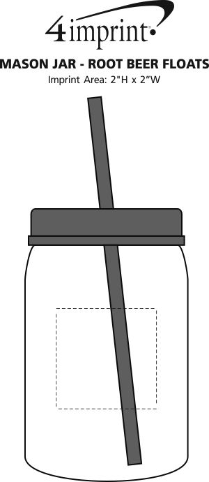 Imprint Area of Mason Jar - Root Beer Floats