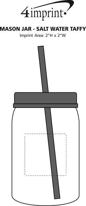Imprint Area of Mason Jar - Salt Water Taffy