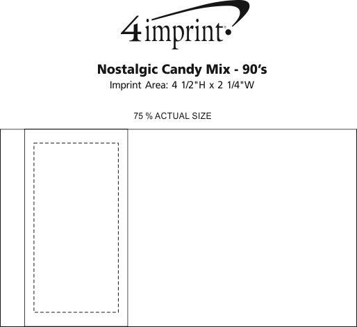 Imprint Area of Nostalgic Candy Mix - 90's