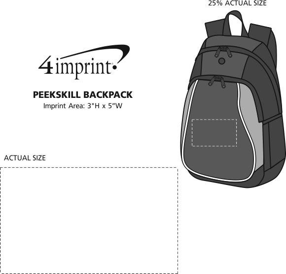 Imprint Area of Peekskill Backpack