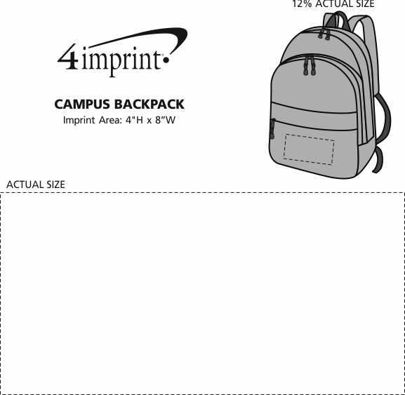 Imprint Area of Campus Backpack
