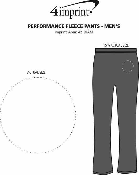 Imprint Area of Performance Fleece Pants - Men's