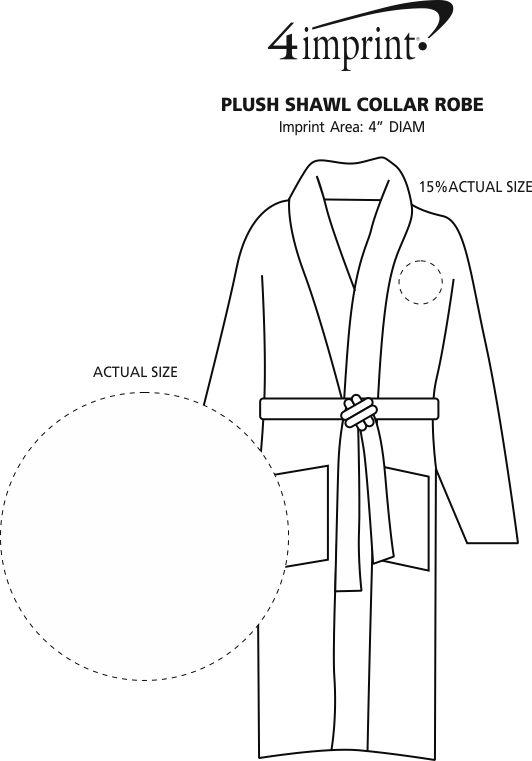 Imprint Area of Plush Shawl Collar Robe