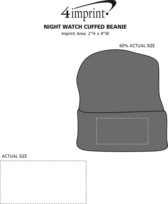 Imprint Area of Night Watch Cuffed Beanie
