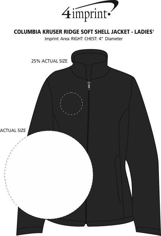 Imprint Area of Columbia Kruser Ridge Soft Shell Jacket - Ladies'