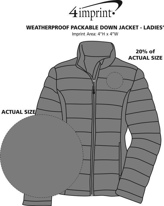 Imprint Area of Weatherproof Packable Down Jacket - Ladies'
