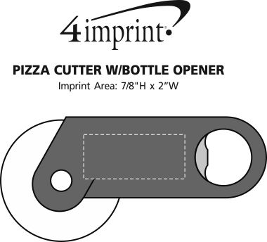 Imprint Area of Pizza Cutter with Bottle Opener