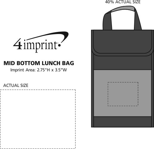 Imprint Area of Mid Bottom Lunch Bag
