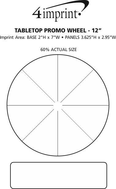 "Imprint Area of Tabletop Promo Wheel - 12"""
