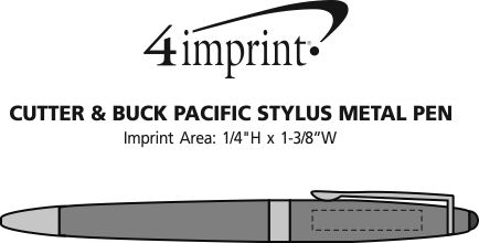 Imprint Area of Cutter & Buck Pacific Stylus Metal Pen
