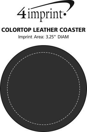 Imprint Area of Colortop Leather Coaster