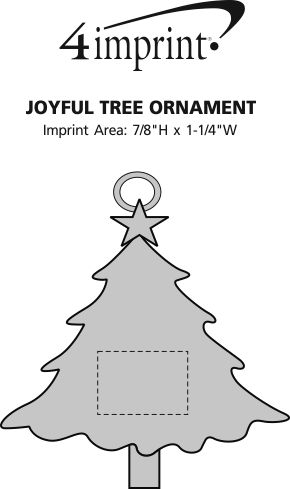 Imprint Area of Joyful Tree Ornament