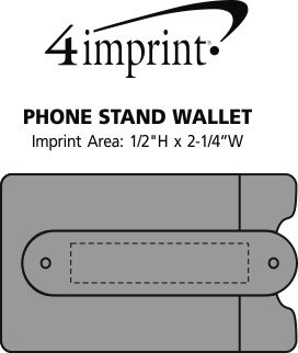 Imprint Area of Phone Stand Wallet