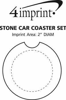 Imprint Area of Stone Car Coaster Set