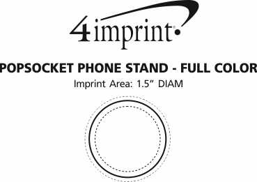 Imprint Area of PopSockets PopGrip - Full Color