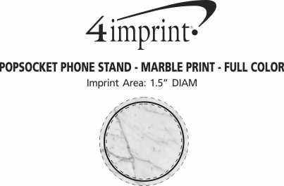 Imprint Area of PopSockets PopGrip - Marble Print - Full Color