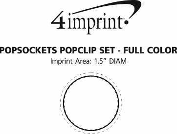 Imprint Area of PopSockets PopGrip PopPack - Full Color