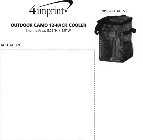 Imprint Area of Outdoor Camo 12-Pack Cooler
